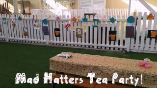 Getting Ready for The Mad Hatters Tea Party at Blossom Village