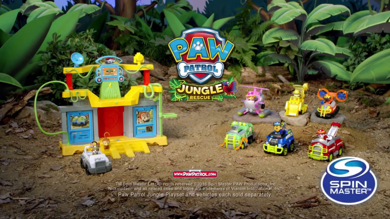 3 Monkey Temple Playset Jungle Rescue Paw Patrol Spin Master TV Commercial