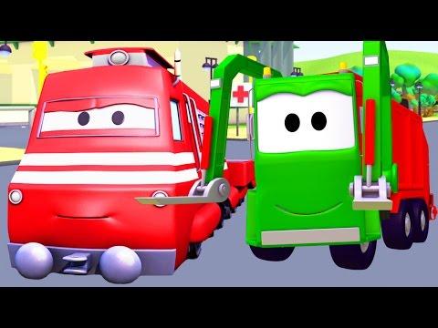Xe chở rác Garry - Xe lửa Troy ở thành phố xe 🚄