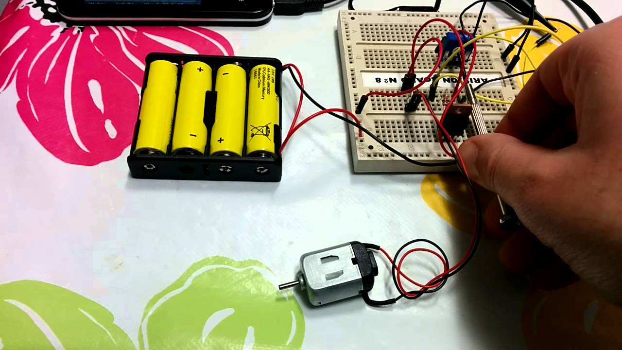 Managing Dc Motor Speed With Arduino And A Variable Resistor Youtube Wiring