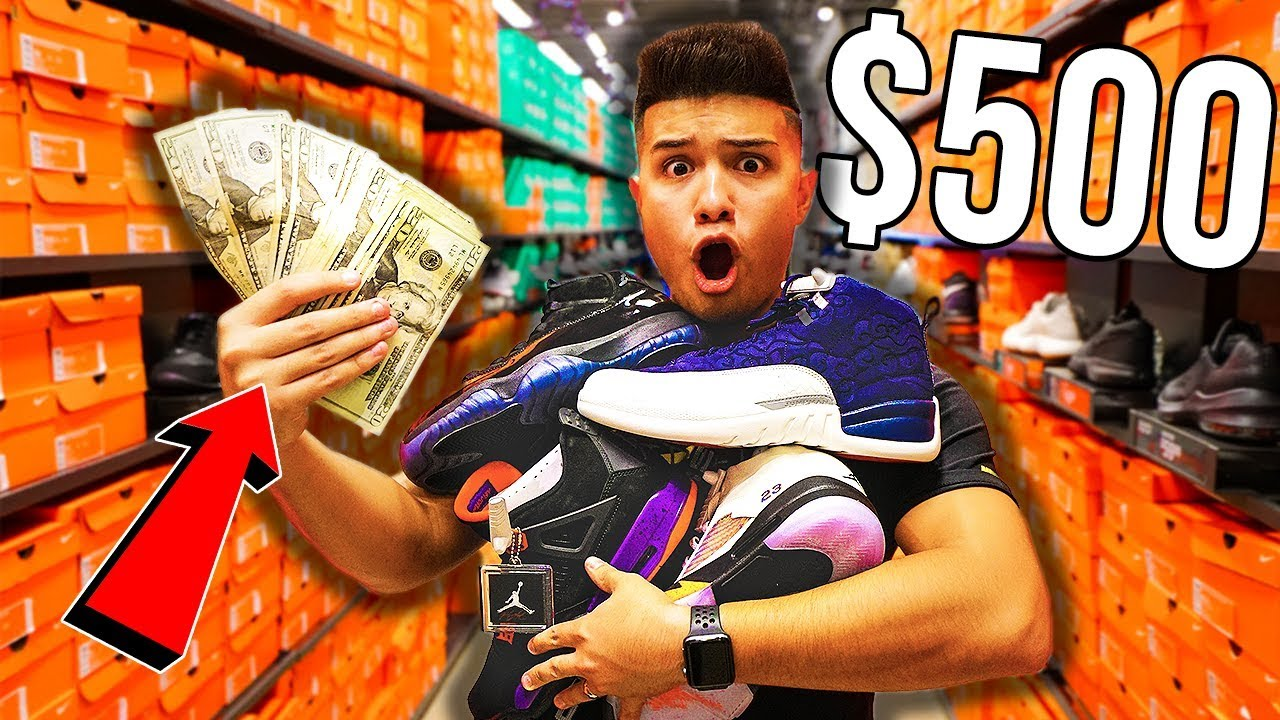 28f4c608f3d THE $500 NIKE OUTLET CHALLENGE!!
