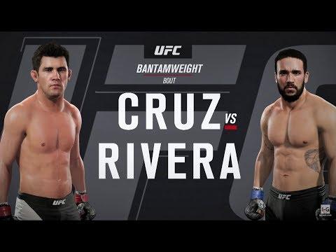 EA Sports UFC 2 - Dominick Cruz vs Jimmie Rivera UFC 219 Full Fight Simulation