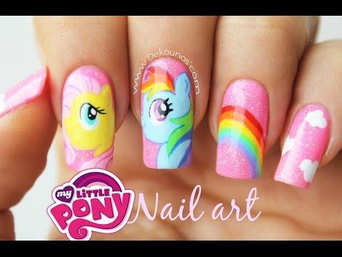 Decoración de uñas my little pony - My Little pony nail art tutorial