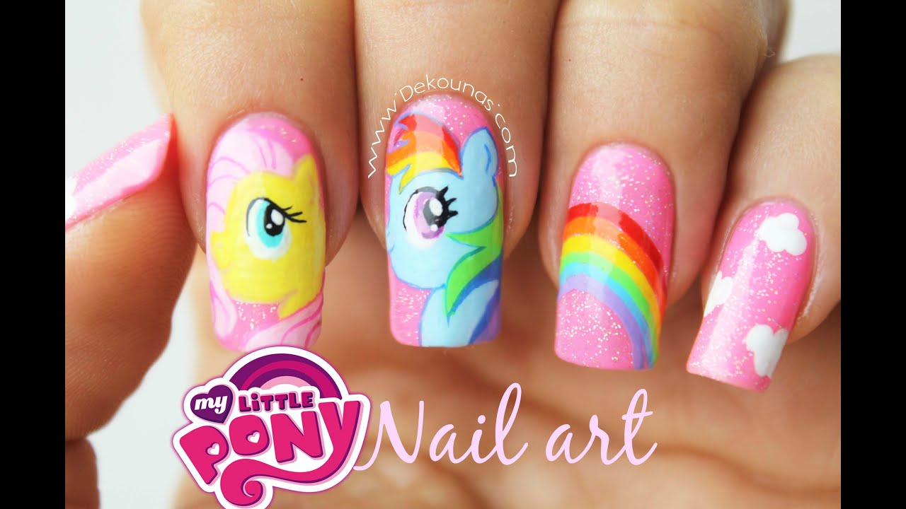 Decoraci n de u as my little pony my little pony nail for Como hacer decoracion de unas
