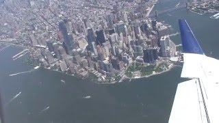 Fantastic Bird's-eye View of New York City! Landing in LaGuardia