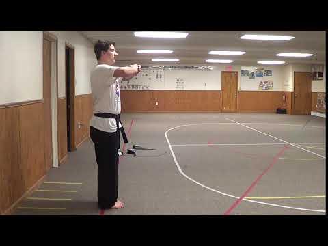 True Warrior Martial Arts - Pal Sek form - side view