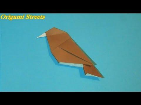 видео: Как сделать птицу из бумаги. Оригами птица