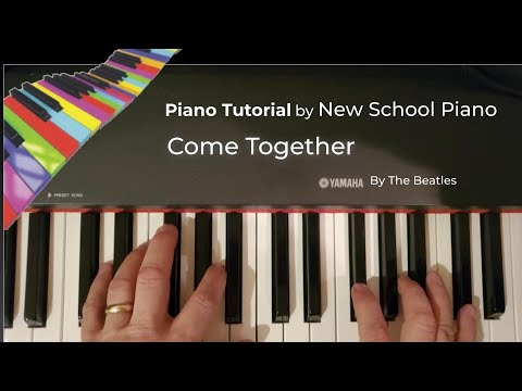 How to play Come Together by the Beatles from Newschoolpiano.com