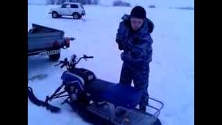 Снегоход Irbis Dingo 110 Б/У(Испробование новой тележки для рыбаков , Черемшанский залив. Снегоход Dingo T110., 2013-12-26T16:47:53.000Z)