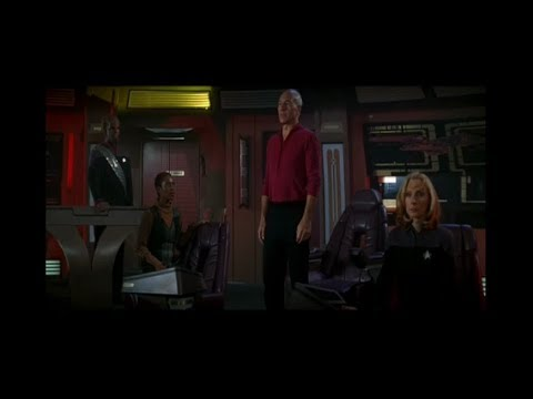 Picard, Beverly and Worf Arm the Auto-Destruct Sequence
