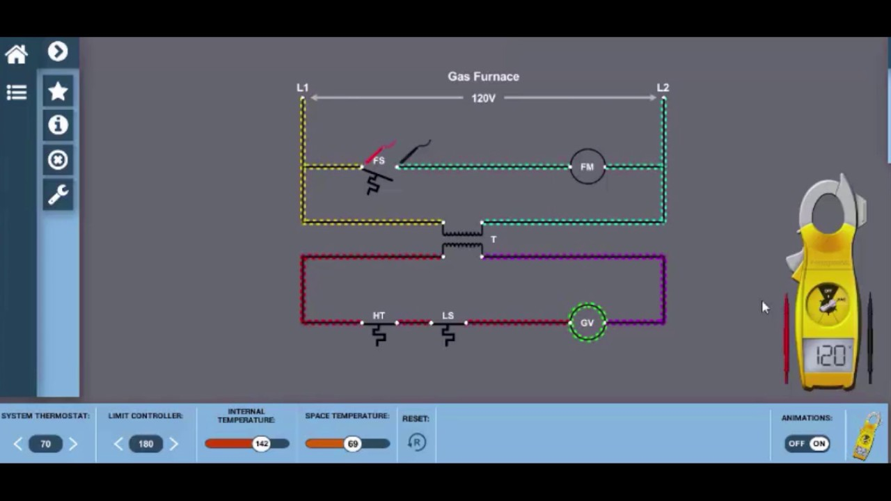Gas Furnace Wiring Diagram Electricity for HVAC - YouTube