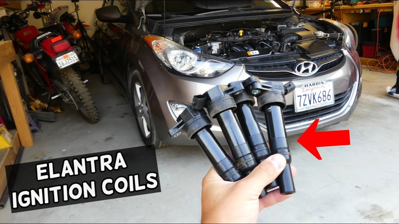 how to remove and replace igntion coil on hyundai elantra 2011 2012 2013  2014 2015 2016