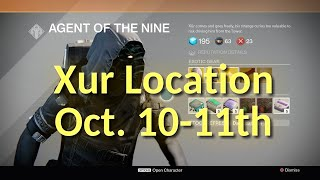 destiny xur location and items oct 10th 11th