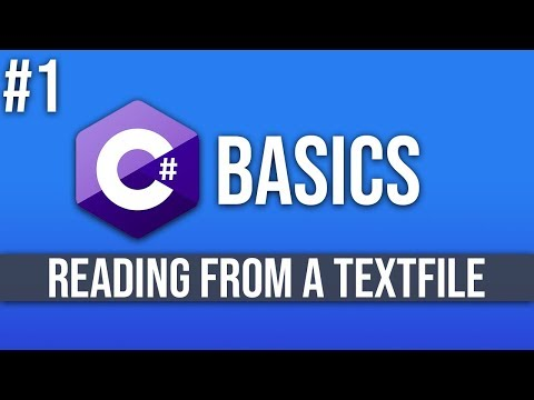 C# Programming Tutorial #1 - Reading Data From A Textfile thumbnail