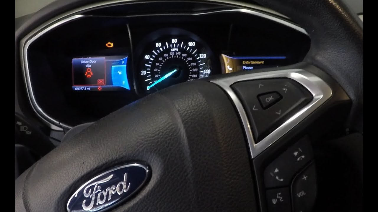 2013 Ford Fusion Check Engine Light On Youtube