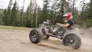 First Test Drive 100HP 4x4 Power Wheels Build