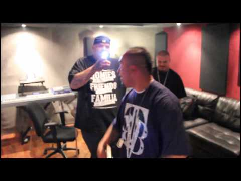 Studio freestyle session in Hollywood with Oso Vicious