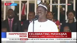 Raila: Tulikuwa tunapeleka watu Canaan, kufika Jordan tukapata mamba | #MashujaaDay2018