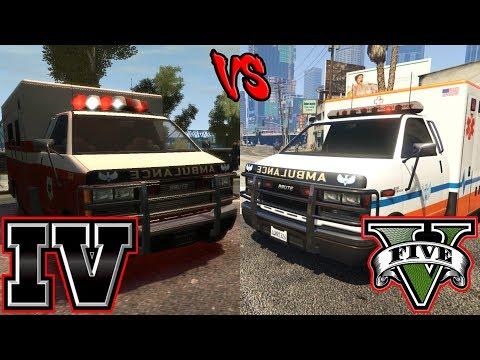Paramedics AI (GTA IV vs GTA V)