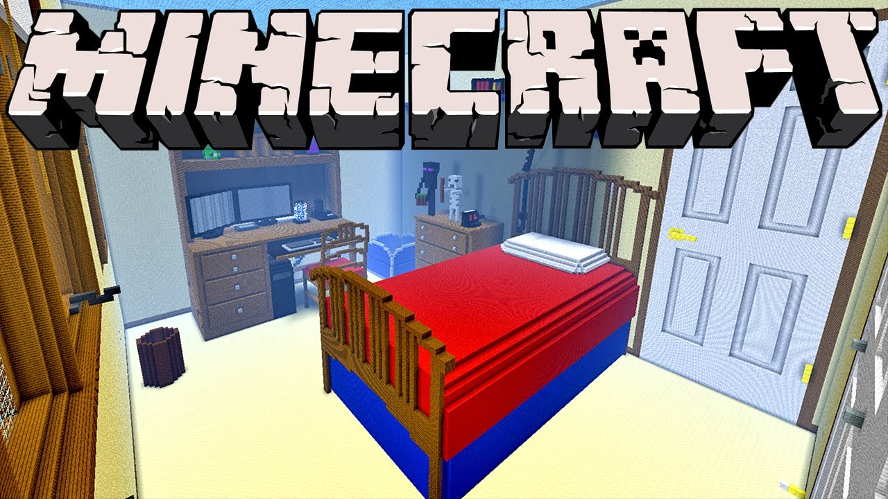 exciting a big house in minecraft.  Giant Minecraft Bedroom 1 Inch Scale Model YouTube
