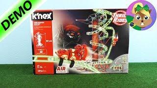 INCRÍVEL MONTANHA RUSSA para crianças KNex Web Weaver Roller Coaste...