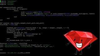 Пишем азбучный равно проворный автосканер IP адресов равно открытых портов бери Ruby (с использованием потоков)