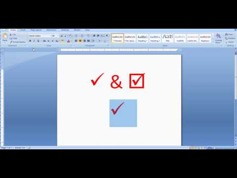 How to create a checkbox in microsoft word 2020