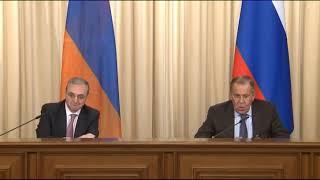 С.Лавров и З.Мнацаканян (пресс-конференция)