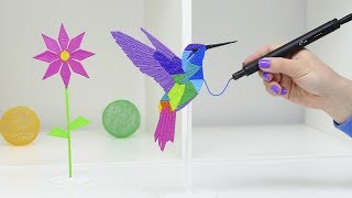 РИСУЮ КОЛИБРИ САМОЙ ТОНКОЙ 3D РУЧКОЙ В МИРЕ | САМАЯ МАЛЕНЬКАЯ ПТИЧКА КОЛИБРИ DIY 3D РУЧКА