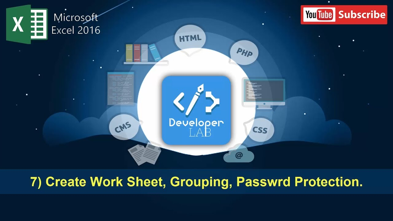 MS Excel 2016 Bangla Tutorial 7 Create Worksheets Worksheets – Excel Group Worksheets