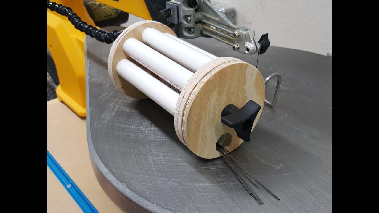 Build a scroll saw blade dispenser youtube build a scroll saw blade dispenser greentooth Image collections