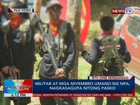 Militar at mga miyembro umano ng NPA, nagkasagupa nitong Pasko