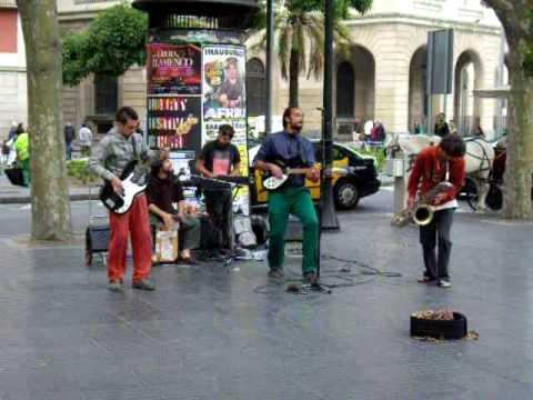 music in barcelona, las ramblas street