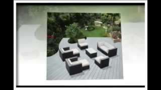 Ohana Collection Pnc1607 16 Piece Outdoor Sectional Sofa And Dining Wicker Patio Furniture Set
