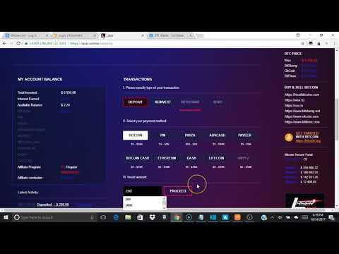 Tutorial on using Coinbase to xfer Bitcoin to Laser.Online