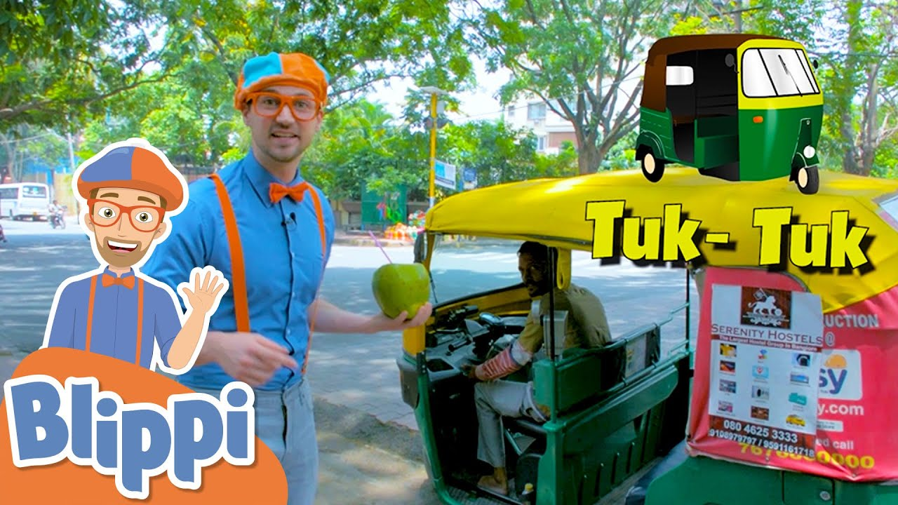 Blippi Travels To India! Learning Vehicles With Blippi   Educational Videos For Kids