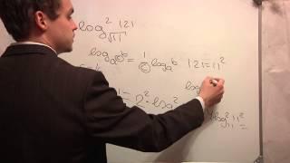ЕГЭ математика. В5 .Логарифм. Видео урок. Ч0-0