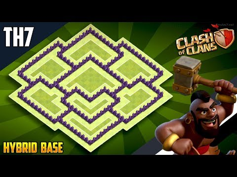 New BEST TH7 HYBRID/TROPHY[defense] Base 2018!!  Town Hall 7 Hybrid Base Design - Clash of Clans