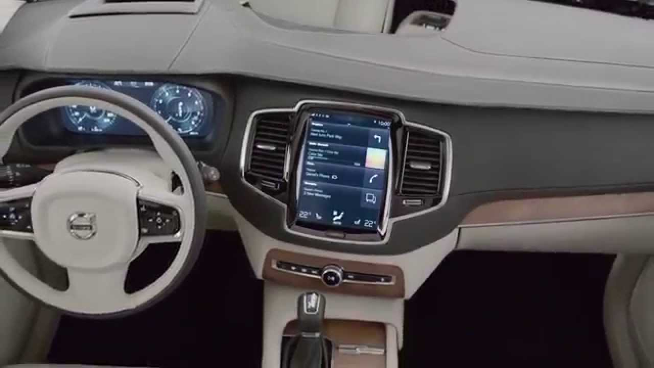 Volvo Xc90 Interior >> 2015 Volvo XC90 interior showcased - YouTube
