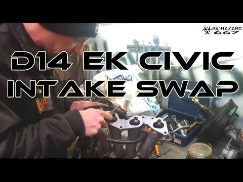 Projects Garage: D14 EK Civic // Intake swap