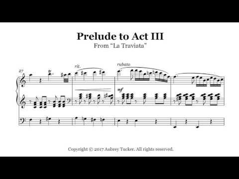 Organ: Verdi Prelude To Act III (From La Traviata)