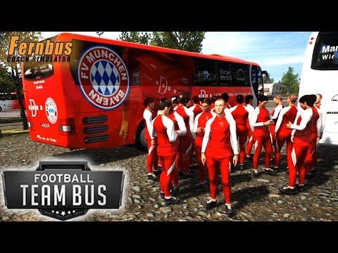 FERNBUS DLC: Football Team Bus - Fernbus Coach Simulator - Simul8 Gaming (with Wheel Cam)