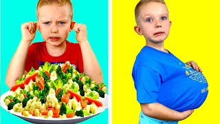 We ate too much - Story for kids how to eat healthy from Martin and Monica