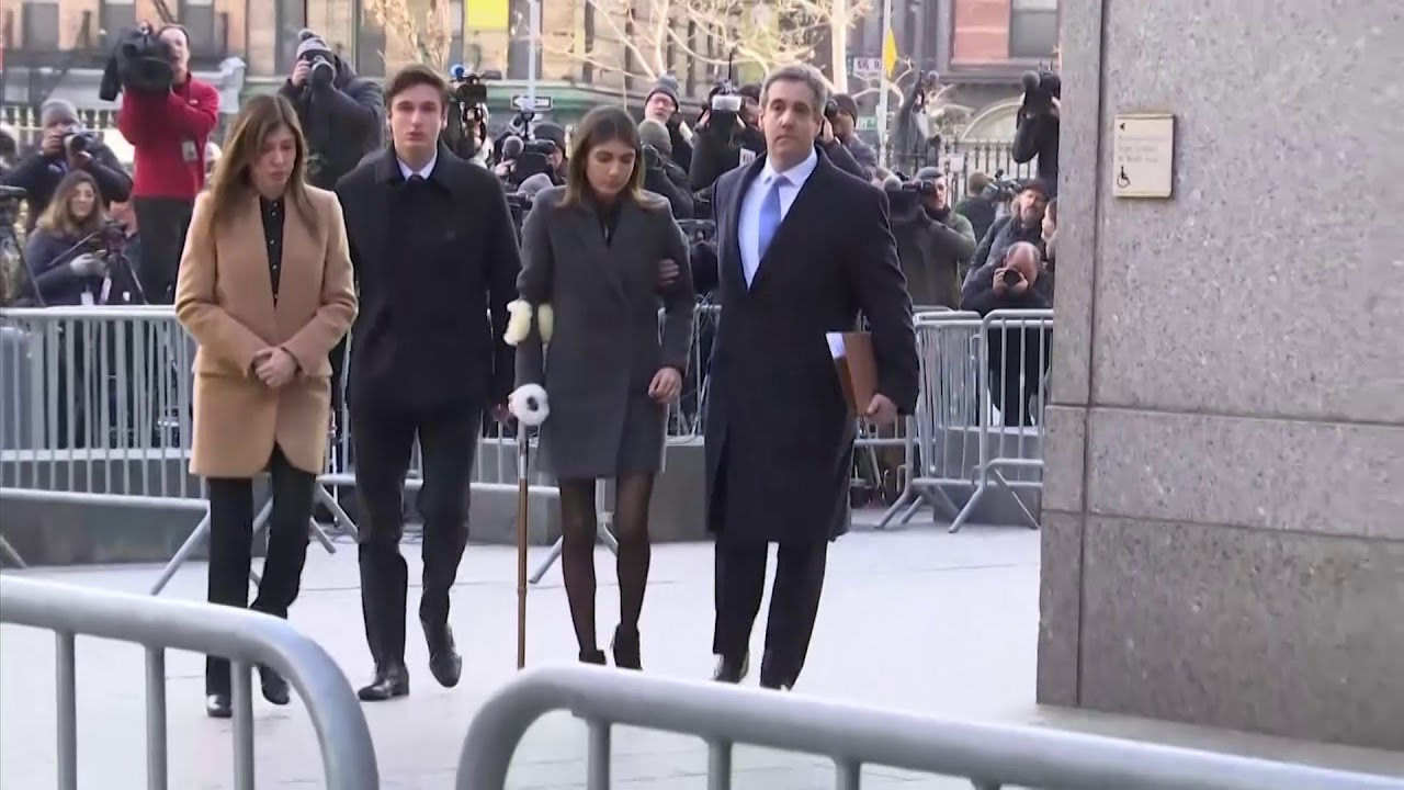 Michael Cohen arrives for sentencing in New York court