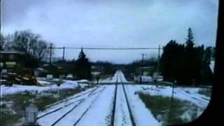 CN Train Derailment & VIA Cab Ride in Northern Ontario : Winter 1992