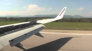Girona GRO airport landing