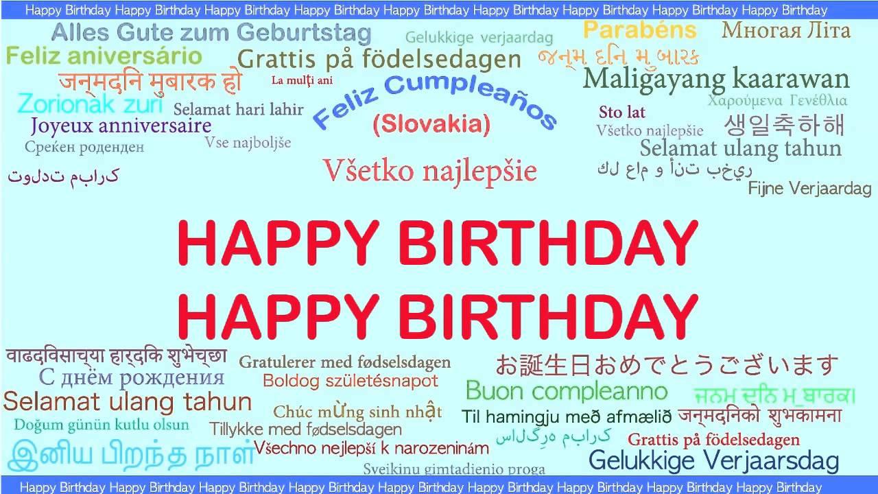 Happy Birthday Languages Idiomas Happy Birthday Youtube Happy Birthday Wishes In Konkani Language