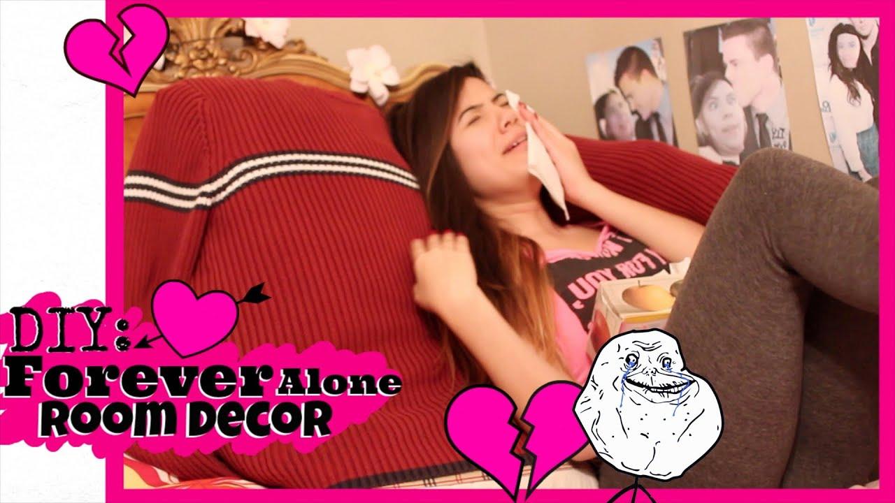 diy valentines forever alone room decor youtube - Forever Alone Valentines Day