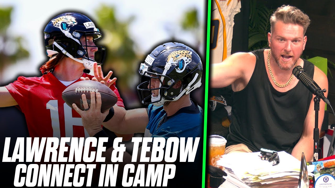 Pat McAfee Reacts Tim Tebow & Trevor Lawrence Connect For INSANE TD In Training Camp