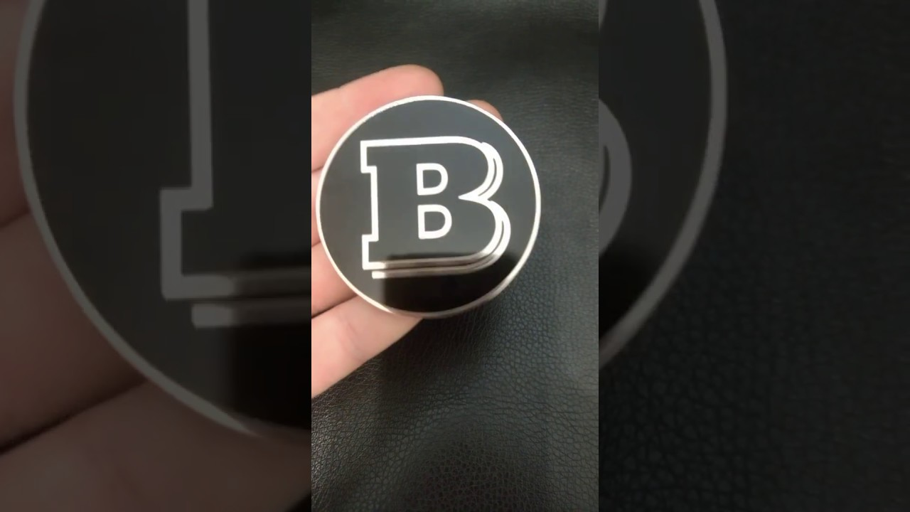 Handmade Logo In The Engine Style Brabus For Mercedes Benz Youtube